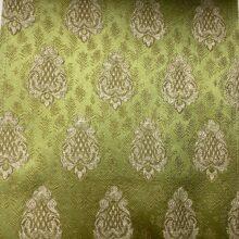 Портьерная жаккардовая ткань с мелким рисунком в классическом стиле оливковая