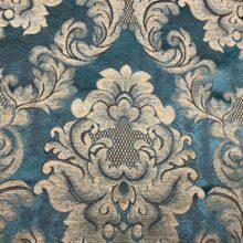 Портьерная жаккардовая ткань с рисунком «дамаск» темная