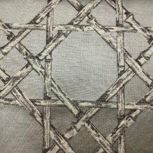 Жаккардовая ткань из хлопка и льна в японском стиле серебристая