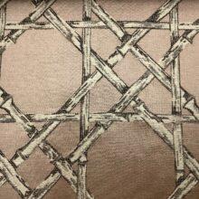 Жаккардовая ткань из хлопка и льна в японском стиле розовая