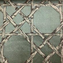 Жаккардовая ткань из хлопка и льна в японском стиле мятная
