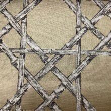 Жаккардовая ткань из хлопка и льна в японском стиле бронза