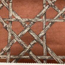 Жаккардовая ткань из хлопка и льна в японском стиле терракотовая