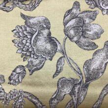 Жаккардовая ткань из хлопка и льна в классическом и японском стилях