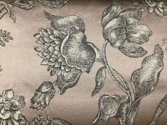 Жаккардовая ткань из хлопка и льна в классическом и японском стилях розовая