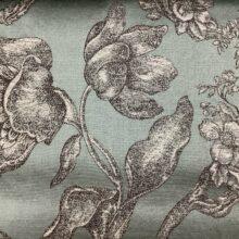 Жаккардовая ткань из хлопка и льна в классическом и японском стилях мятная