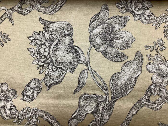 Жаккардовая ткань из хлопка и льна в классическом и японском стилях золотая