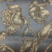 Жаккардовая ткань из хлопка и льна в классическом и японском стиля синяя