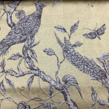 Жаккардовая ткань из хлопка и льна в японском стиле с фазанами