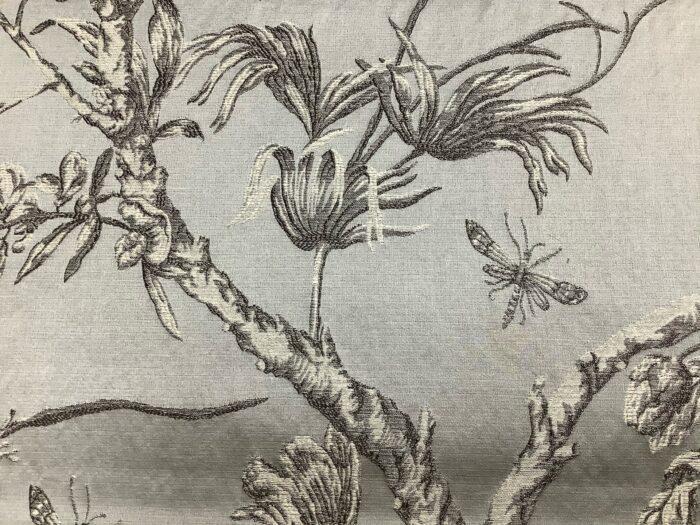 Портьерная жаккардовая ткань из хлопка и льна в японском стиле серая