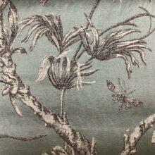 Портьерная жаккардовая ткань из хлопка и льна в японском стиле мятная