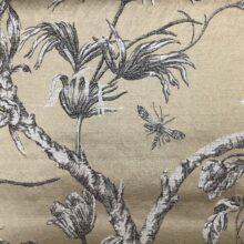 Портьерная жаккардовая ткань из хлопка и льна в японском стиле золото