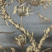 Портьерная жаккардовая ткань из хлопка и льна в японском стиле темная