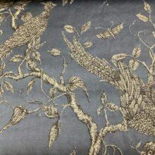 Портьерная жаккардовая ткань из хлопка и льна в японском стиле синяя