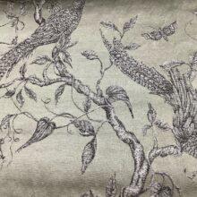 Портьерная жаккардовая ткань из хлопка и льна в японском стиле оливковая