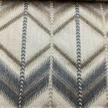 Портьерная ткань с вышивкой в этническом стиле дымчатая