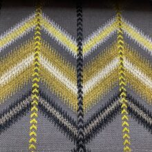 Портьерная ткань с вышивкой в этническом стиле серая