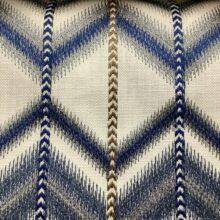 Портьерная ткань с вышивкой в этническом стиле синяя