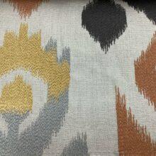 Портьерная ткань с вышивкой из хлопка в этническом стиле терракот