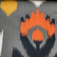 Портьерная ткань с вышивкой из хлопка в этническом стиле серая
