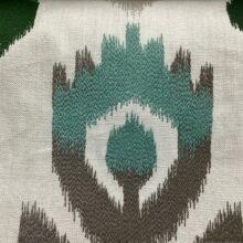 Портьерная ткань с вышивкой из хлопка в этническом стиле мятная
