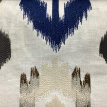 Портьерная ткань с вышивкой из хлопка в этническом стиле ванильная