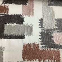 Портьерная атласная ткань с вышивкой из хлопка и вискозы карамель