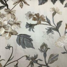 Портьерная атласная ткань с вышивкой из хлопка и вискозы