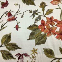 Портьерная атласная ткань с вышивкой из хлопка и вискозы из Испании