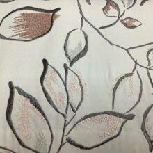 Портьерная атласная ткань с вышивкой из хлопка и вискозы в стиле фьюжн