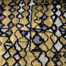 Портьерная ткань из шенилла с набивкой в этническом стиле