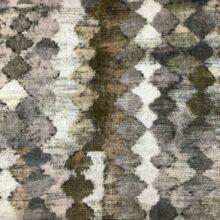 Портьерная ткань из гладкого шенилла в этническом стиле бронза