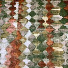 Портьерная ткань из гладкого шенилла в этническом стиле терракот