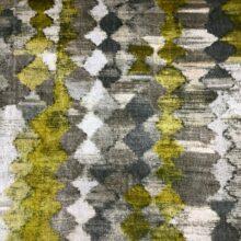 Портьерная ткань из гладкого шенилла в этническом стиле горчичная