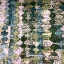 Портьерная ткань из гладкого шенилла в этническом стиле абстрактная