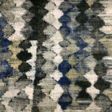 Портьерная ткань из гладкого шенилла серо-синяя