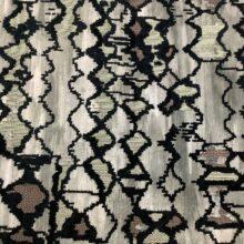 Портьерная ткань из шенилла с набивкой серая