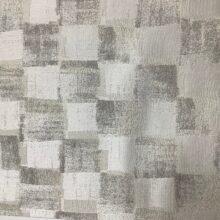 Портьерная атласная ткань премиум-класса с абстрактным геометрическим рисунком