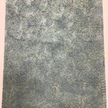 Портьерная ткань премиум-класса с абстрактным рисунком бирюзовая