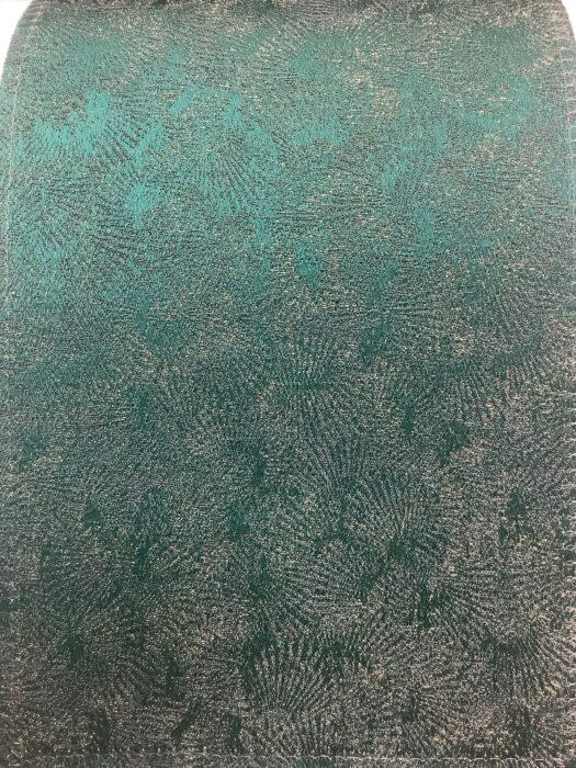 Портьерная ткань изумрудная премиум-класса с абстрактным рисунком