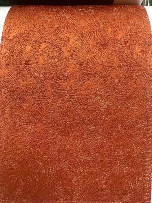 Портьерная ткань терракот премиум-класса с абстрактным рисунком