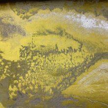 Портьерная атласная ткань премиум-класса с абстрактным рисунком ярко-желтая