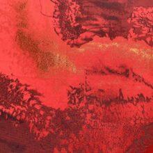 Портьерная атласная ткань премиум-класса цвета терракот