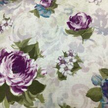 Портьерная ткань из хлопка с цветочным орнаментом в стиле Прованс