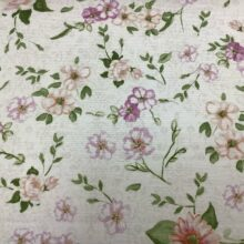 Портьерная ткань из хлопка с мелким цветочным орнаментом