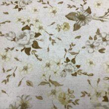 Портьерная ткань из хлопка с цветочным орнаментом в классическом стиле