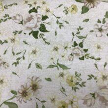 Портьерная ткань из хлопка с зеленоватым цветочным орнаментом