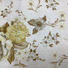 Портьерная ткань из хлопка с цветочным орнаментом светлая