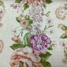 Портьерная ткань из хлопка с цветочным орнаментом шириной 280 см