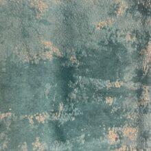 Бархатная ткань в изумрудных оттенках  с золотистым напылением